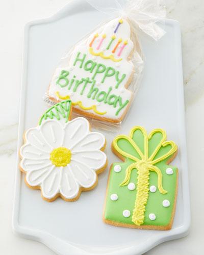 Hand Decorated Happy Birthday Cookies