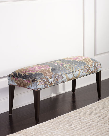 Haute House Hermione Damask Bench, 42.5""