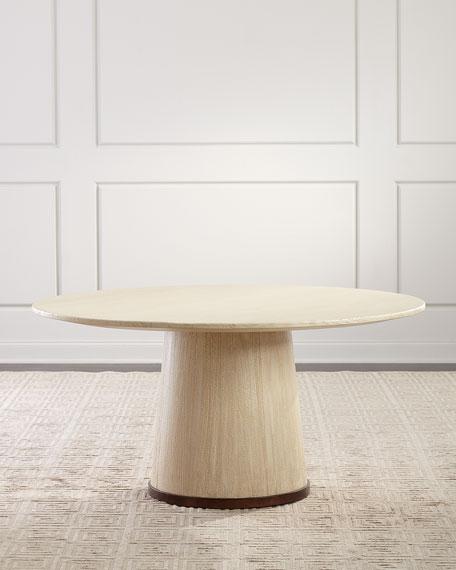 "Palecek Katherine Dining Table, 60""Dia."