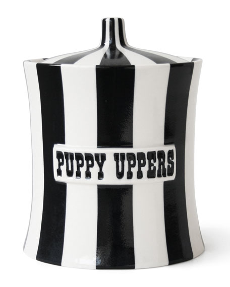 Jonathan Adler Vice Puppy Uppers Dog Treat Canister
