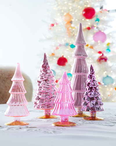 Pink Hue Trees  Set of 5