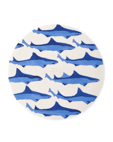 Deborah Rhodes Sharks Round Placemat