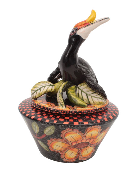 Ardmore Ceramic Art Hornbill Box