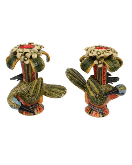 Ardmore Ceramic Art Bird Candleholders