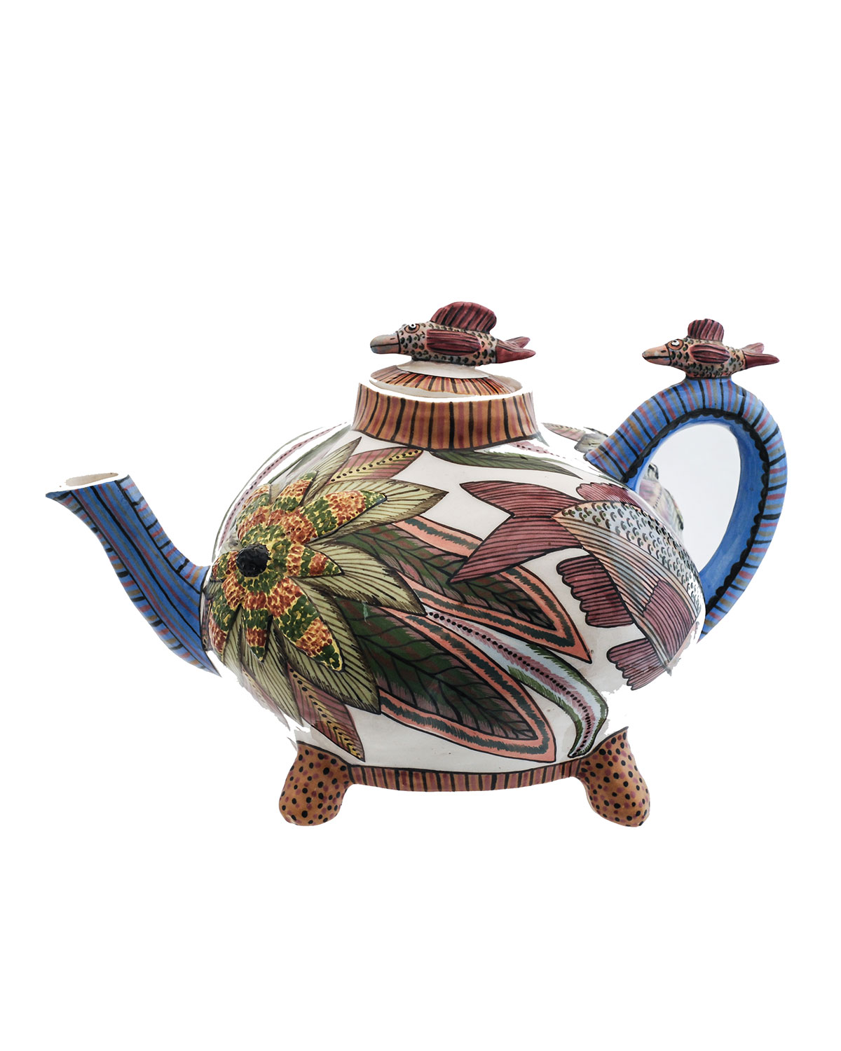 Ardmore Ceramic Art Fish Teapot