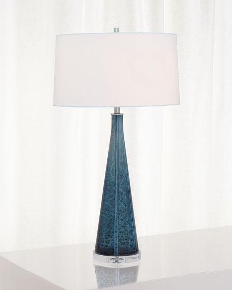 Port 68 London Smoke Blue Glass Lamp