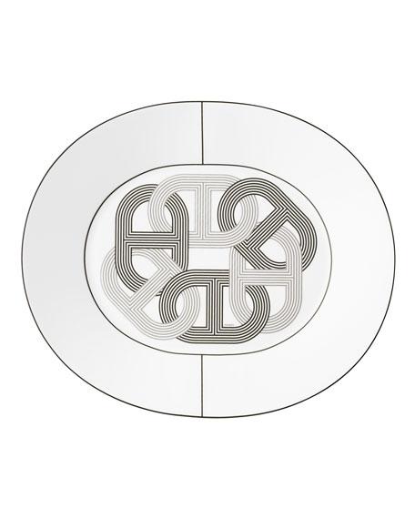 Hermès Rallye Large Oval Plate