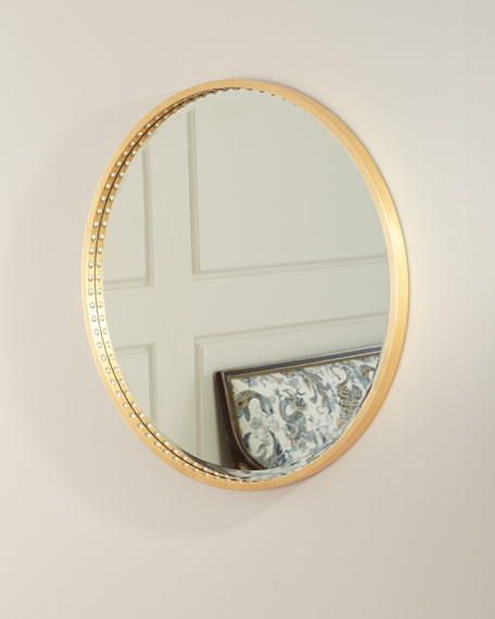 Image 3 of 3: Oliver Nail Head Mirror
