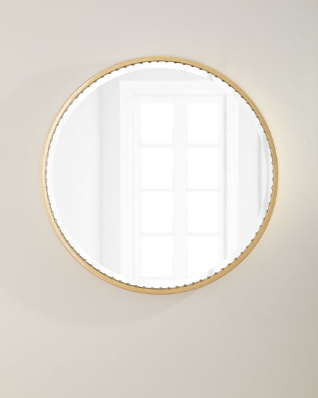Image 1 of 3: Oliver Nail Head Mirror