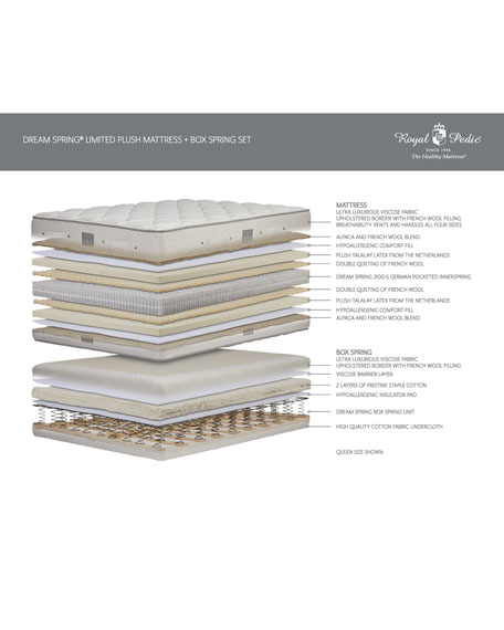Royal-Pedic Dream Spring Limited Plush Twin XL Mattress Set