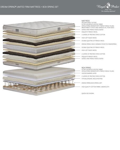 Royal-Pedic Dream Spring Limited Firm Full Mattress Set