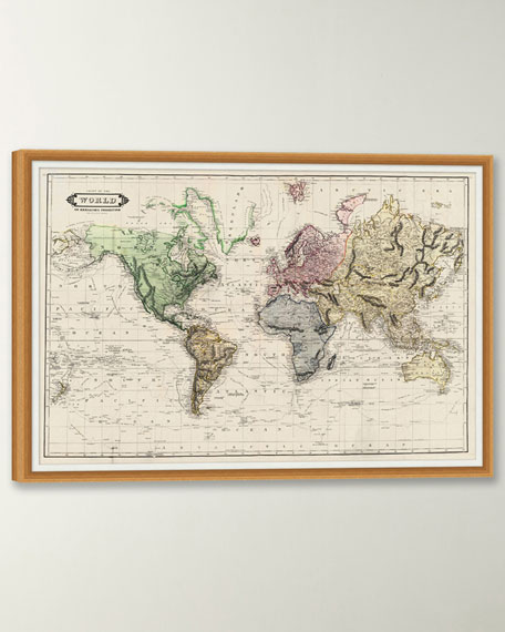 Colored Chart of the World