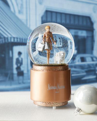 2019 Shopping Lady Snow Globe