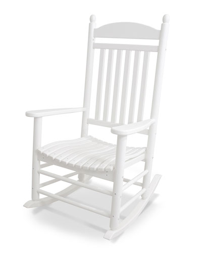 All-Weather Traditional Rocking Chair  White
