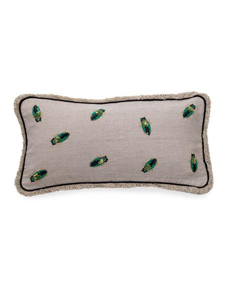 Joanna Buchanan Embroidered Beetle Pillow