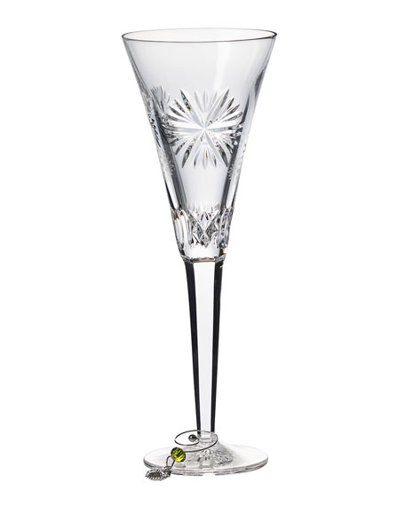 Waterford Crystal Snowflake Wishes Prosperity Champagne Flute