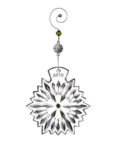 Snowflake Wishes Prosperity 2019 Christmas Ornament