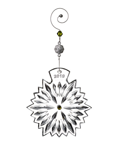 Waterford Crystal Snowflake Wishes Prosperity 2019 Christmas Ornament