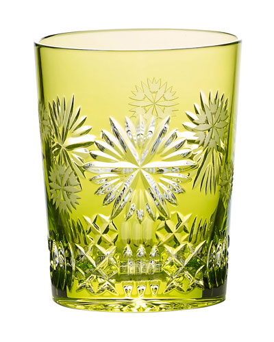Snowflake Wishes Prosperity Double Old-Fashioned Glass  Lime