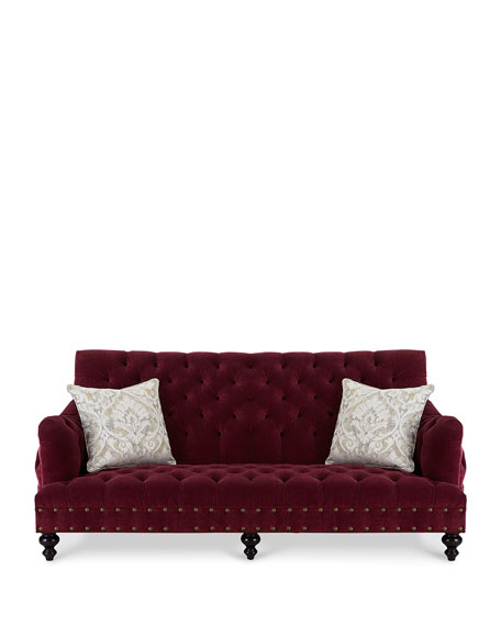 Image 3 of 5: Old Hickory Tannery Sara Tufted Sofa, 84.5""