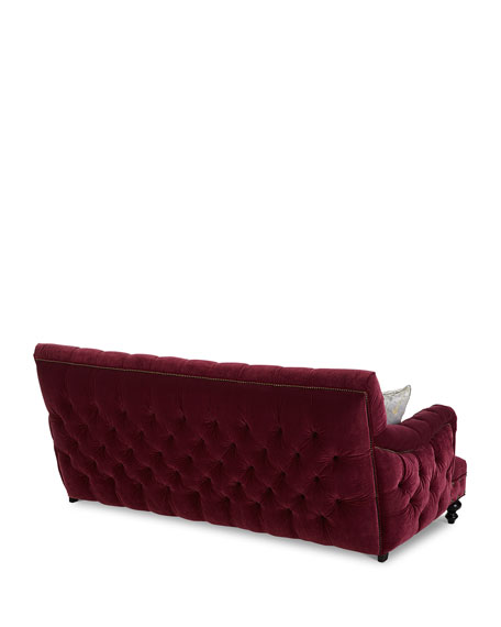 "Old Hickory Tannery Sara Tufted Sofa, 84.5"""
