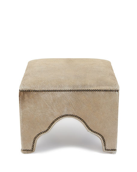 Massoud Stefania Leather Ottoman