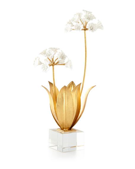 John-Richard Collection Allium Moly in Porcelain