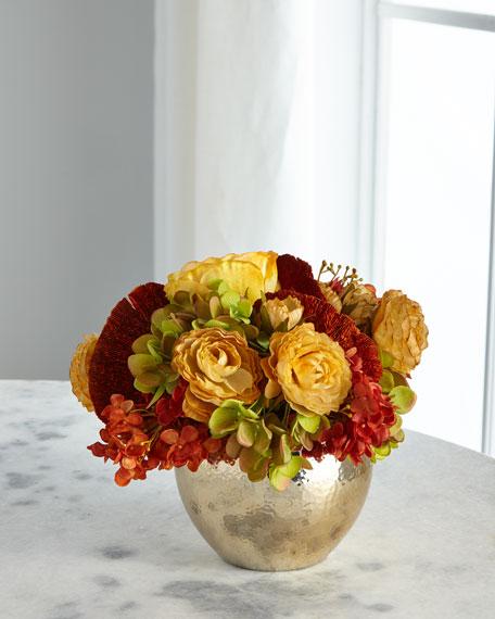 John-Richard Collection Gold Nugget Faux Floral Arrangement