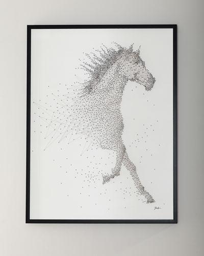 Sprinting Stallion Canvas Art by Tony Fey