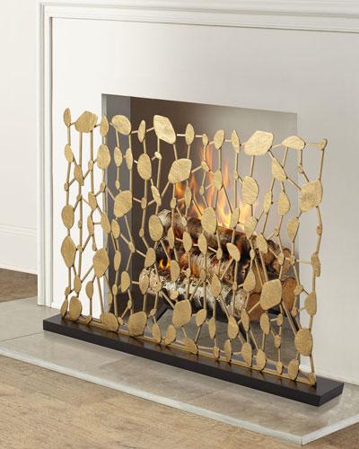 Abstract Sculptural Fireplace Screen
