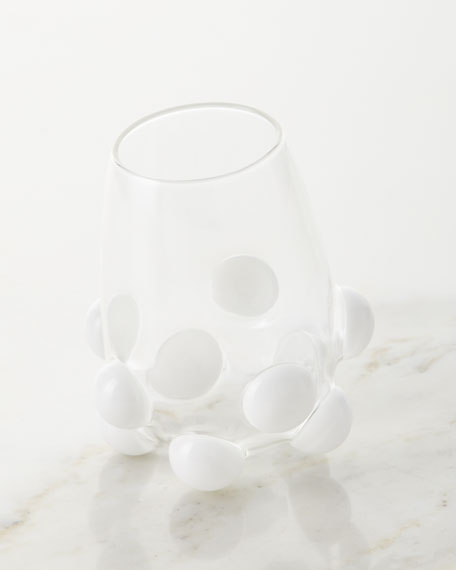 Massimo Lunardon Bubble Wine Glass, White