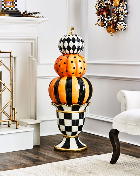 MacKenzie-Childs NM Courtly Stacking Pumpkin Topiary