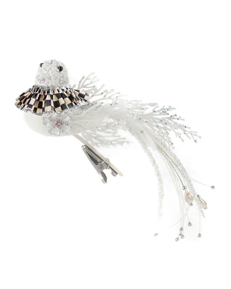 MacKenzie-Childs Snowfall Bird Clip