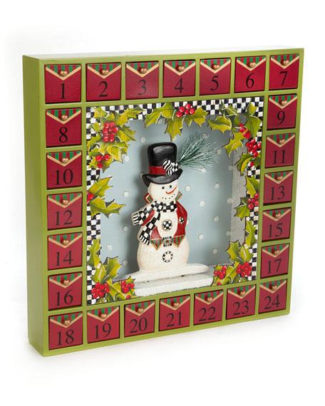 MacKenzie-Childs Snowman Advent Calendar