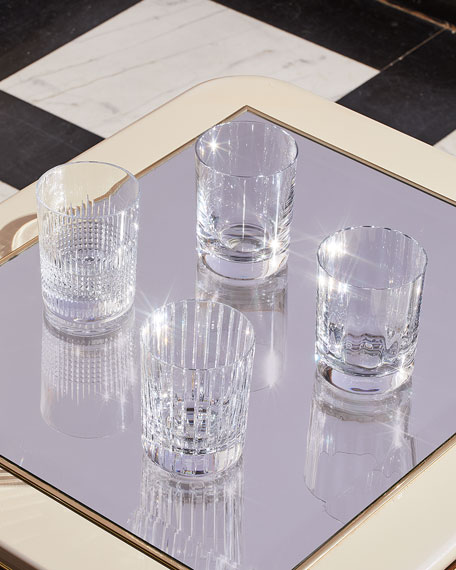 Baccarat Four Elements Triple Old Fashion Tumblers, Set of 4