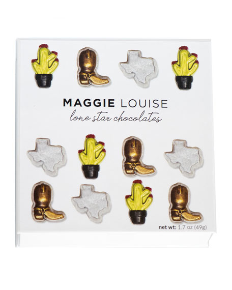 Maggie Louise Lone Star Sweets Chocolate Gift Boxes, Set of 4