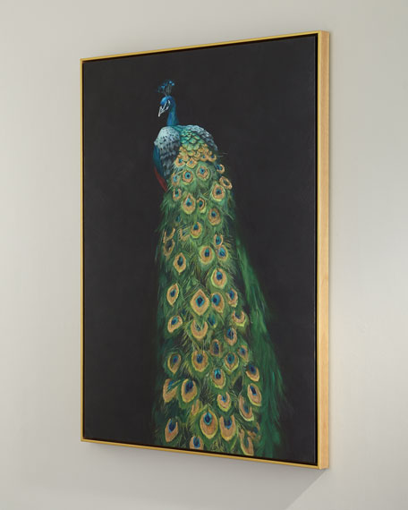 """Peacock"" Giclee Canvas Art"