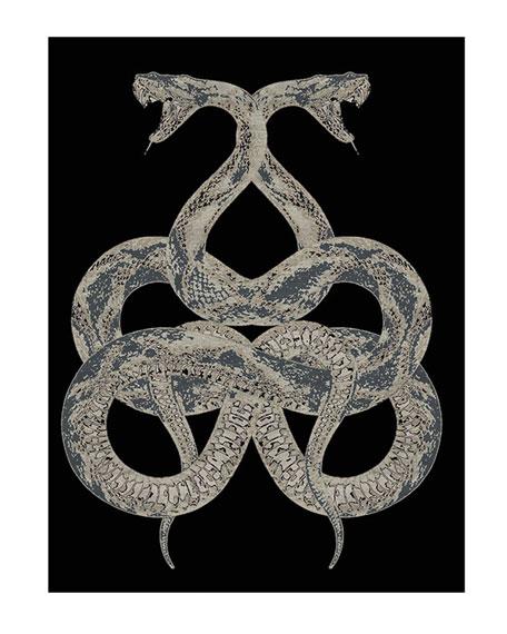 Roberto Cavalli Snake Rug, 9.8' x 6.5'