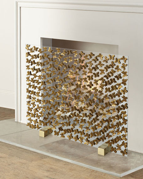 Tommy Mitchell Butterfly Fireplace Screen
