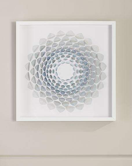 'Aqua Bloom' Wall Art