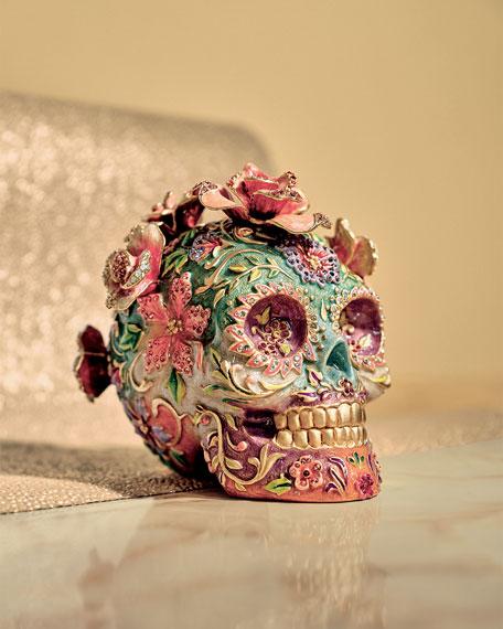 Jay Strongwater Catrina Skull with Roses