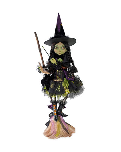 Young Witch with Broom