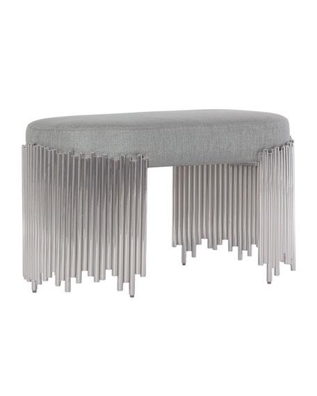 Bernhardt Calista Modern Oval Bench