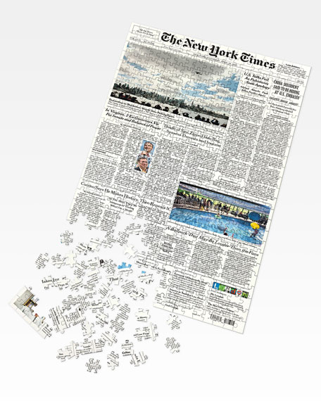 New York Times NYT Front Page Puzzle