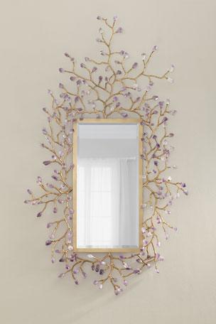 John-Richard Collection Budding Amethyst Mirror