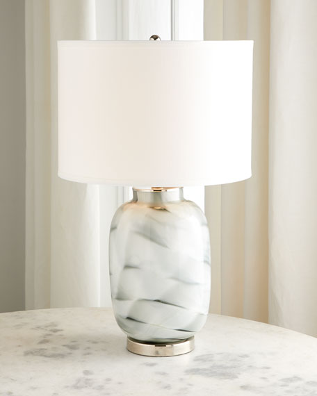 Image 2 of 2: Jamie Young Gray Swirl Glass Table Lamp
