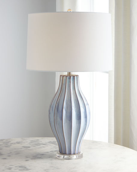 Image 2 of 2: Ocean Blue Reactive Table Lamp
