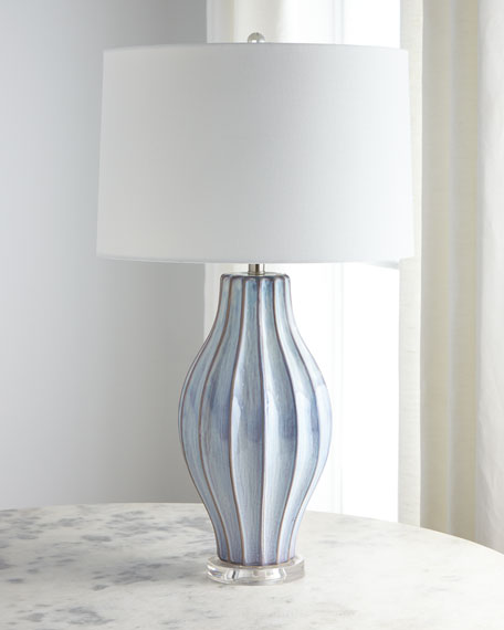 Image 1 of 2: Ocean Blue Reactive Table Lamp