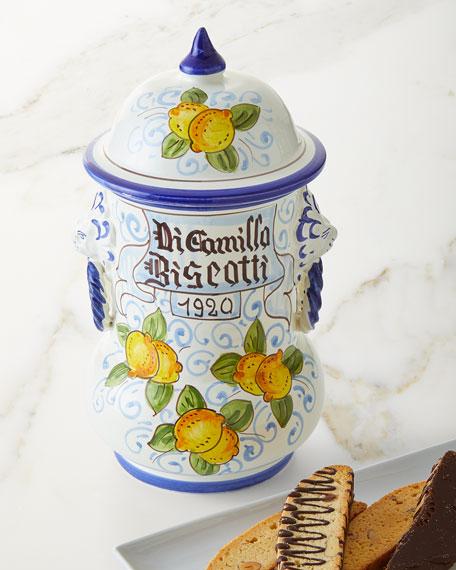 Dicamillo Baking Co Il Faso Limone e Leone Biscotti Jar, 13 oz.