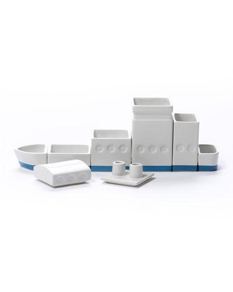 "Seletti ""The Ship"" Porcelain Desk Organizer Set"